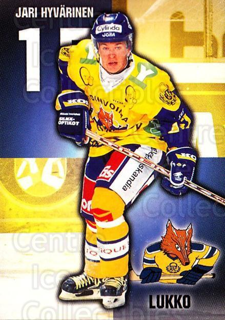 1999-00 Finnish Cardset #287 Jari Hyvarinen<br/>8 In Stock - $2.00 each - <a href=https://centericecollectibles.foxycart.com/cart?name=1999-00%20Finnish%20Cardset%20%23287%20Jari%20Hyvarinen...&quantity_max=8&price=$2.00&code=160260 class=foxycart> Buy it now! </a>