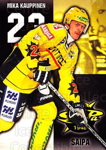 1999-00 Finnish Cardset #311 Mika Kauppinen<br/>9 In Stock - $2.00 each - <a href=https://centericecollectibles.foxycart.com/cart?name=1999-00%20Finnish%20Cardset%20%23311%20Mika%20Kauppinen...&quantity_max=9&price=$2.00&code=160288 class=foxycart> Buy it now! </a>