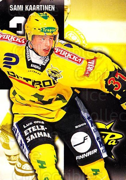 1999-00 Finnish Cardset #312 Sami Kaartinen<br/>4 In Stock - $2.00 each - <a href=https://centericecollectibles.foxycart.com/cart?name=1999-00%20Finnish%20Cardset%20%23312%20Sami%20Kaartinen...&quantity_max=4&price=$2.00&code=160289 class=foxycart> Buy it now! </a>