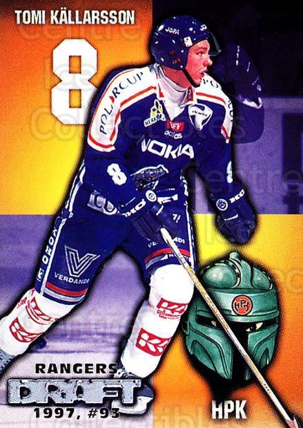 1999-00 Finnish Cardset #33 Tomi Kallarsson<br/>8 In Stock - $2.00 each - <a href=https://centericecollectibles.foxycart.com/cart?name=1999-00%20Finnish%20Cardset%20%2333%20Tomi%20Kallarsson...&quantity_max=8&price=$2.00&code=160308 class=foxycart> Buy it now! </a>