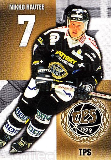 1999-00 Finnish Cardset #335 Mikko Rautee<br/>7 In Stock - $2.00 each - <a href=https://centericecollectibles.foxycart.com/cart?name=1999-00%20Finnish%20Cardset%20%23335%20Mikko%20Rautee...&quantity_max=7&price=$2.00&code=160314 class=foxycart> Buy it now! </a>