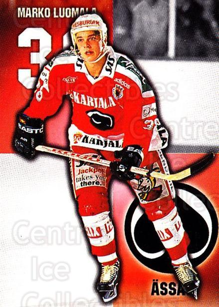 1999-00 Finnish Cardset #343 Marko Luomala<br/>7 In Stock - $2.00 each - <a href=https://centericecollectibles.foxycart.com/cart?name=1999-00%20Finnish%20Cardset%20%23343%20Marko%20Luomala...&quantity_max=7&price=$2.00&code=160323 class=foxycart> Buy it now! </a>