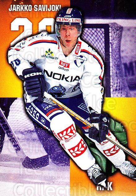 1999-00 Finnish Cardset #38 Jarkko Savijoki<br/>7 In Stock - $2.00 each - <a href=https://centericecollectibles.foxycart.com/cart?name=1999-00%20Finnish%20Cardset%20%2338%20Jarkko%20Savijoki...&quantity_max=7&price=$2.00&code=160330 class=foxycart> Buy it now! </a>