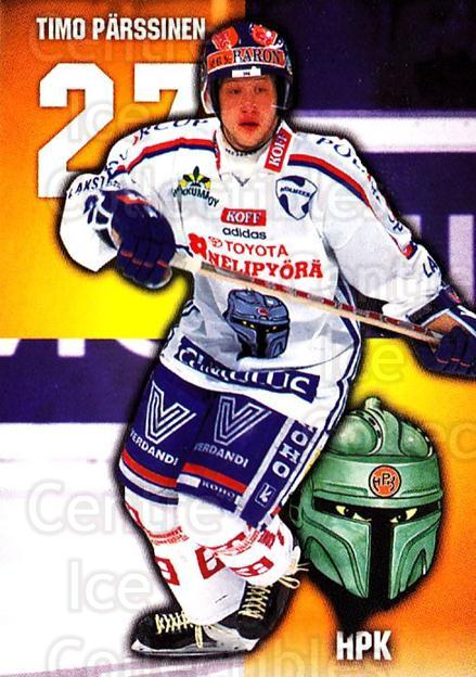 1999-00 Finnish Cardset #40 Timo Parssinen<br/>12 In Stock - $2.00 each - <a href=https://centericecollectibles.foxycart.com/cart?name=1999-00%20Finnish%20Cardset%20%2340%20Timo%20Parssinen...&quantity_max=12&price=$2.00&code=160333 class=foxycart> Buy it now! </a>