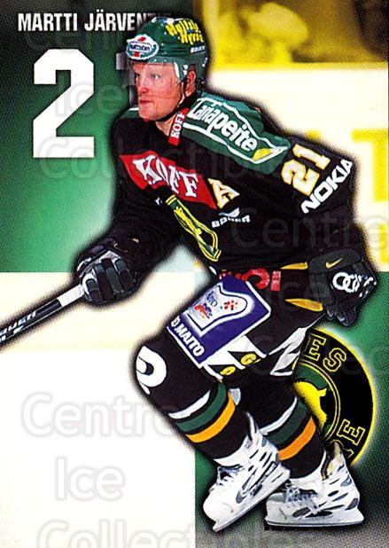 1999-00 Finnish Cardset #47 Martti Jarventie<br/>6 In Stock - $2.00 each - <a href=https://centericecollectibles.foxycart.com/cart?name=1999-00%20Finnish%20Cardset%20%2347%20Martti%20Jarventi...&quantity_max=6&price=$2.00&code=160340 class=foxycart> Buy it now! </a>
