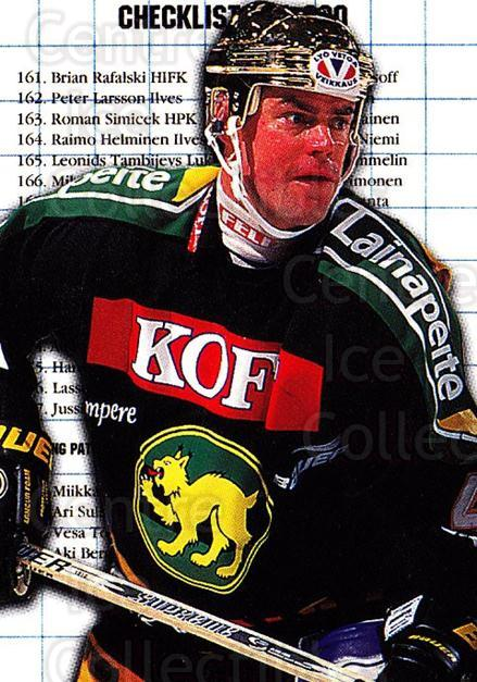 1999-00 Finnish Cardset #5 Raimo Helminen, Checklist<br/>5 In Stock - $2.00 each - <a href=https://centericecollectibles.foxycart.com/cart?name=1999-00%20Finnish%20Cardset%20%235%20Raimo%20Helminen,...&price=$2.00&code=160343 class=foxycart> Buy it now! </a>