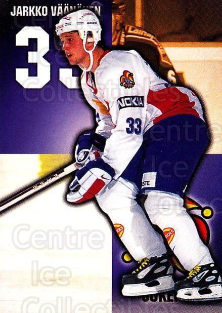 1999-00 Finnish Cardset #61 Jarkko Vaananen<br/>7 In Stock - $2.00 each - <a href=https://centericecollectibles.foxycart.com/cart?name=1999-00%20Finnish%20Cardset%20%2361%20Jarkko%20Vaananen...&price=$2.00&code=160356 class=foxycart> Buy it now! </a>