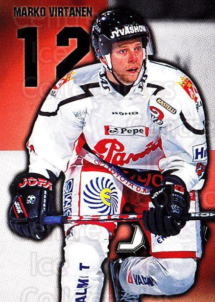 1999-00 Finnish Cardset #77 Marko Virtanen<br/>7 In Stock - $2.00 each - <a href=https://centericecollectibles.foxycart.com/cart?name=1999-00%20Finnish%20Cardset%20%2377%20Marko%20Virtanen...&quantity_max=7&price=$2.00&code=160373 class=foxycart> Buy it now! </a>