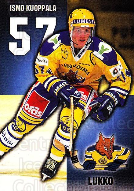 1999-00 Finnish Cardset #82 Ismo Kuoppala<br/>7 In Stock - $2.00 each - <a href=https://centericecollectibles.foxycart.com/cart?name=1999-00%20Finnish%20Cardset%20%2382%20Ismo%20Kuoppala...&quantity_max=7&price=$2.00&code=160379 class=foxycart> Buy it now! </a>
