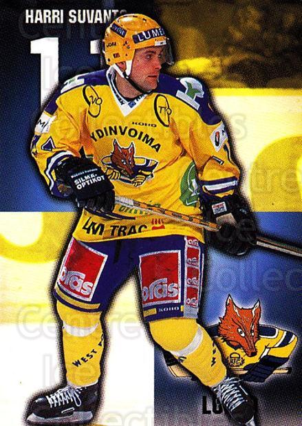 1999-00 Finnish Cardset #85 Harri Suvanto<br/>7 In Stock - $2.00 each - <a href=https://centericecollectibles.foxycart.com/cart?name=1999-00%20Finnish%20Cardset%20%2385%20Harri%20Suvanto...&quantity_max=7&price=$2.00&code=160382 class=foxycart> Buy it now! </a>