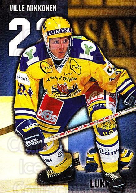 1999-00 Finnish Cardset #87 Ville Mikkonen<br/>7 In Stock - $2.00 each - <a href=https://centericecollectibles.foxycart.com/cart?name=1999-00%20Finnish%20Cardset%20%2387%20Ville%20Mikkonen...&quantity_max=7&price=$2.00&code=160384 class=foxycart> Buy it now! </a>