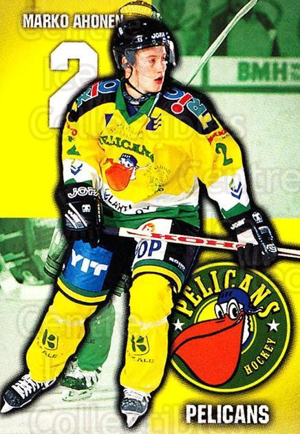 1999-00 Finnish Cardset #94 Marko Ahonen<br/>6 In Stock - $2.00 each - <a href=https://centericecollectibles.foxycart.com/cart?name=1999-00%20Finnish%20Cardset%20%2394%20Marko%20Ahonen...&quantity_max=6&price=$2.00&code=160392 class=foxycart> Buy it now! </a>