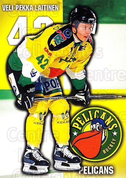 1999-00 Finnish Cardset #95 Veli-Pekka Laitinen<br/>6 In Stock - $2.00 each - <a href=https://centericecollectibles.foxycart.com/cart?name=1999-00%20Finnish%20Cardset%20%2395%20Veli-Pekka%20Lait...&quantity_max=6&price=$2.00&code=160393 class=foxycart> Buy it now! </a>