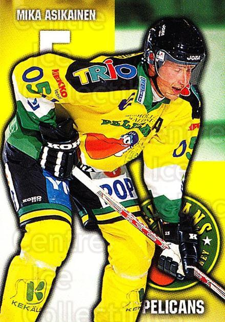 1999-00 Finnish Cardset #98 Mika Asikainen<br/>6 In Stock - $2.00 each - <a href=https://centericecollectibles.foxycart.com/cart?name=1999-00%20Finnish%20Cardset%20%2398%20Mika%20Asikainen...&quantity_max=6&price=$2.00&code=160396 class=foxycart> Buy it now! </a>