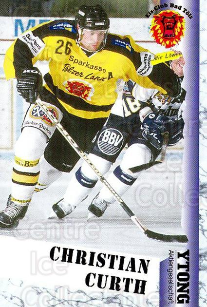 1999-00 German Bundesliga 2 #25 Christian Curth<br/>13 In Stock - $2.00 each - <a href=https://centericecollectibles.foxycart.com/cart?name=1999-00%20German%20Bundesliga%202%20%2325%20Christian%20Curth...&quantity_max=13&price=$2.00&code=160403 class=foxycart> Buy it now! </a>