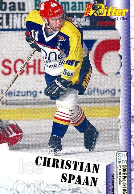 1999-00 German Bundesliga 2 #254 Christian Spaan<br/>12 In Stock - $2.00 each - <a href=https://centericecollectibles.foxycart.com/cart?name=1999-00%20German%20Bundesliga%202%20%23254%20Christian%20Spaan...&quantity_max=12&price=$2.00&code=160408 class=foxycart> Buy it now! </a>
