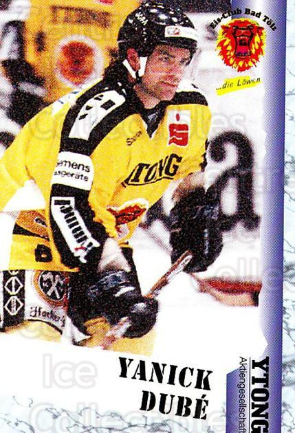 1999-00 German Bundesliga 2 #26 Yannick Dube<br/>13 In Stock - $2.00 each - <a href=https://centericecollectibles.foxycart.com/cart?name=1999-00%20German%20Bundesliga%202%20%2326%20Yannick%20Dube...&quantity_max=13&price=$2.00&code=160413 class=foxycart> Buy it now! </a>