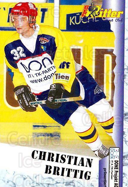 1999-00 German Bundesliga 2 #260 Christian Brittig<br/>11 In Stock - $2.00 each - <a href=https://centericecollectibles.foxycart.com/cart?name=1999-00%20German%20Bundesliga%202%20%23260%20Christian%20Britt...&quantity_max=11&price=$2.00&code=160414 class=foxycart> Buy it now! </a>