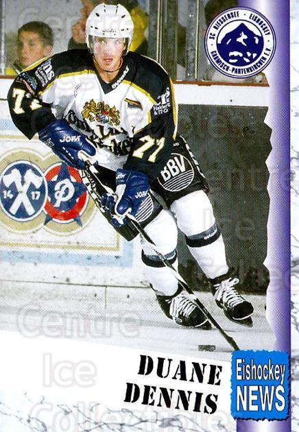 1999-00 German Bundesliga 2 #285 Duane Dennis<br/>12 In Stock - $2.00 each - <a href=https://centericecollectibles.foxycart.com/cart?name=1999-00%20German%20Bundesliga%202%20%23285%20Duane%20Dennis...&quantity_max=12&price=$2.00&code=160437 class=foxycart> Buy it now! </a>