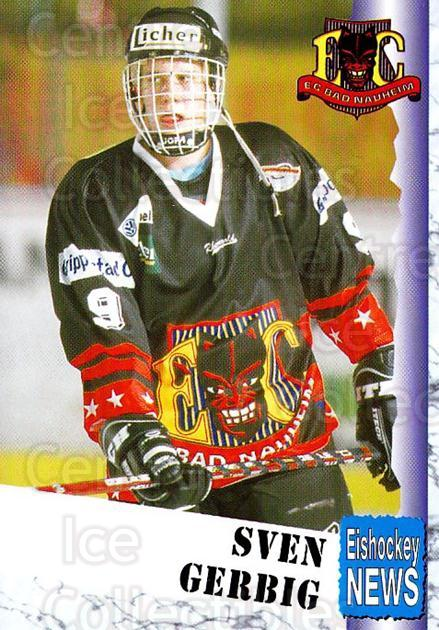 1999-00 German Bundesliga 2 #3 Sven Gerbig<br/>11 In Stock - $2.00 each - <a href=https://centericecollectibles.foxycart.com/cart?name=1999-00%20German%20Bundesliga%202%20%233%20Sven%20Gerbig...&quantity_max=11&price=$2.00&code=160453 class=foxycart> Buy it now! </a>