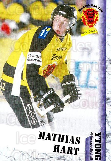 1999-00 German Bundesliga 2 #34 Mathias Hart<br/>13 In Stock - $2.00 each - <a href=https://centericecollectibles.foxycart.com/cart?name=1999-00%20German%20Bundesliga%202%20%2334%20Mathias%20Hart...&quantity_max=13&price=$2.00&code=160487 class=foxycart> Buy it now! </a>