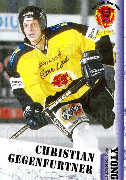 1999-00 German Bundesliga 2 #39 Christian Gegenfurther<br/>13 In Stock - $2.00 each - <a href=https://centericecollectibles.foxycart.com/cart?name=1999-00%20German%20Bundesliga%202%20%2339%20Christian%20Gegen...&quantity_max=13&price=$2.00&code=160492 class=foxycart> Buy it now! </a>