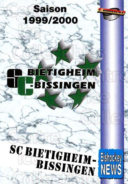 1999-00 German Bundesliga 2 #41 Bietigheim-Bissingen SC, Checklist<br/>11 In Stock - $2.00 each - <a href=https://centericecollectibles.foxycart.com/cart?name=1999-00%20German%20Bundesliga%202%20%2341%20Bietigheim-Biss...&quantity_max=11&price=$2.00&code=160495 class=foxycart> Buy it now! </a>