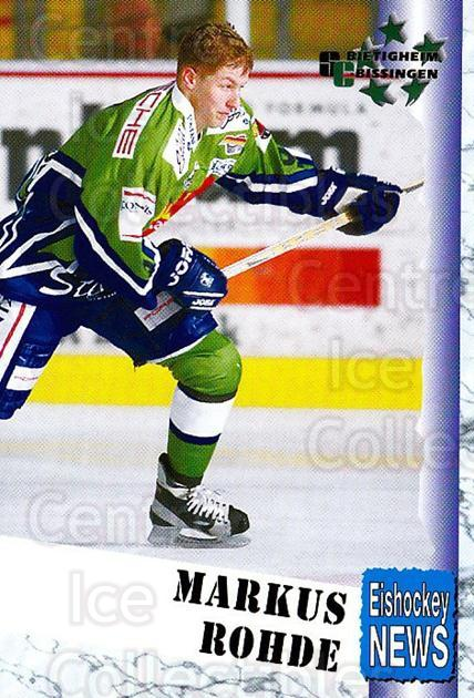 1999-00 German Bundesliga 2 #44 Markus Rohde<br/>12 In Stock - $2.00 each - <a href=https://centericecollectibles.foxycart.com/cart?name=1999-00%20German%20Bundesliga%202%20%2344%20Markus%20Rohde...&quantity_max=12&price=$2.00&code=160498 class=foxycart> Buy it now! </a>