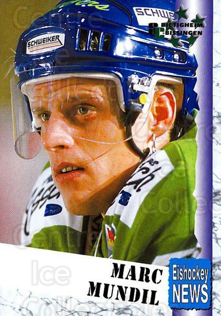 1999-00 German Bundesliga 2 #46 Marc Mundil<br/>12 In Stock - $2.00 each - <a href=https://centericecollectibles.foxycart.com/cart?name=1999-00%20German%20Bundesliga%202%20%2346%20Marc%20Mundil...&quantity_max=12&price=$2.00&code=160500 class=foxycart> Buy it now! </a>
