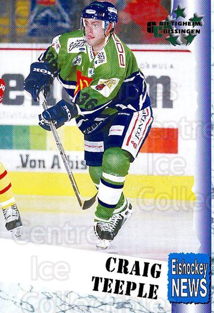 1999-00 German Bundesliga 2 #55 Craig Teeple<br/>11 In Stock - $2.00 each - <a href=https://centericecollectibles.foxycart.com/cart?name=1999-00%20German%20Bundesliga%202%20%2355%20Craig%20Teeple...&quantity_max=11&price=$2.00&code=160508 class=foxycart> Buy it now! </a>