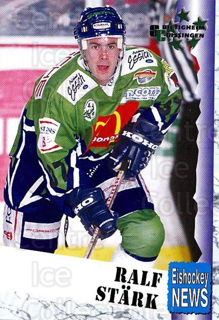1999-00 German Bundesliga 2 #56 Ralf Stark<br/>11 In Stock - $2.00 each - <a href=https://centericecollectibles.foxycart.com/cart?name=1999-00%20German%20Bundesliga%202%20%2356%20Ralf%20Stark...&price=$2.00&code=160509 class=foxycart> Buy it now! </a>