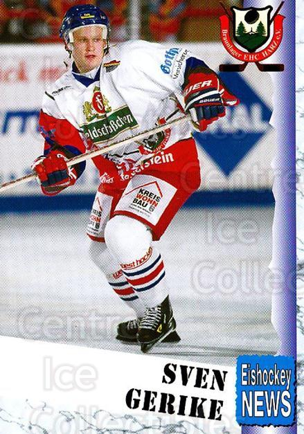 1999-00 German Bundesliga 2 #70 Sven Gerike<br/>12 In Stock - $2.00 each - <a href=https://centericecollectibles.foxycart.com/cart?name=1999-00%20German%20Bundesliga%202%20%2370%20Sven%20Gerike...&quantity_max=12&price=$2.00&code=160524 class=foxycart> Buy it now! </a>