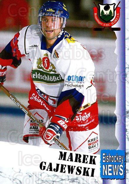 1999-00 German Bundesliga 2 #71 Marek Gajewski<br/>12 In Stock - $2.00 each - <a href=https://centericecollectibles.foxycart.com/cart?name=1999-00%20German%20Bundesliga%202%20%2371%20Marek%20Gajewski...&quantity_max=12&price=$2.00&code=160525 class=foxycart> Buy it now! </a>