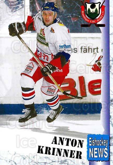 1999-00 German Bundesliga 2 #79 Anton Krinner<br/>10 In Stock - $2.00 each - <a href=https://centericecollectibles.foxycart.com/cart?name=1999-00%20German%20Bundesliga%202%20%2379%20Anton%20Krinner...&quantity_max=10&price=$2.00&code=160533 class=foxycart> Buy it now! </a>