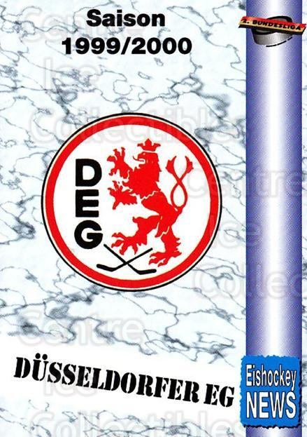 1999-00 German Bundesliga 2 #84 Duesseldorf EG, Checklist<br/>11 In Stock - $2.00 each - <a href=https://centericecollectibles.foxycart.com/cart?name=1999-00%20German%20Bundesliga%202%20%2384%20Duesseldorf%20EG,...&quantity_max=11&price=$2.00&code=160538 class=foxycart> Buy it now! </a>