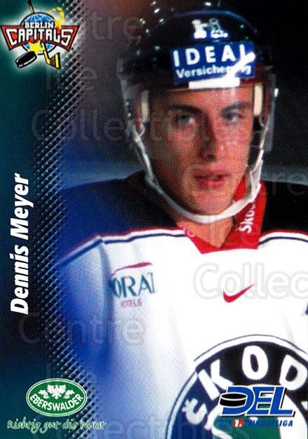 1999-00 German DEL #274 Dennis Meyer<br/>9 In Stock - $2.00 each - <a href=https://centericecollectibles.foxycart.com/cart?name=1999-00%20German%20DEL%20%23274%20Dennis%20Meyer...&quantity_max=9&price=$2.00&code=160586 class=foxycart> Buy it now! </a>