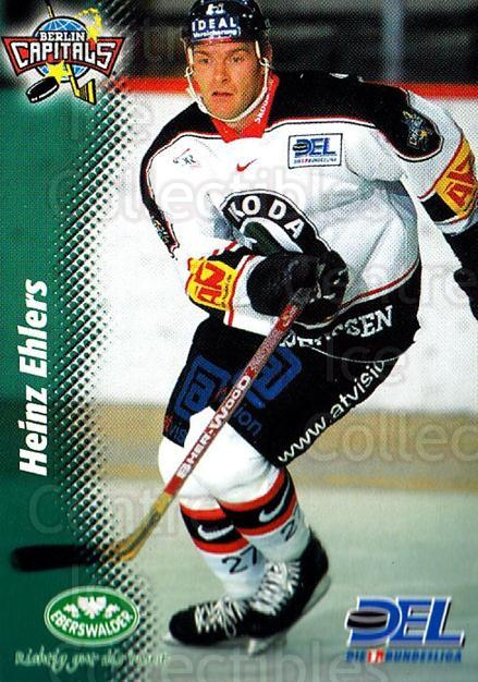 1999-00 German DEL #283 Heinz Ehlers<br/>8 In Stock - $2.00 each - <a href=https://centericecollectibles.foxycart.com/cart?name=1999-00%20German%20DEL%20%23283%20Heinz%20Ehlers...&quantity_max=8&price=$2.00&code=160595 class=foxycart> Buy it now! </a>