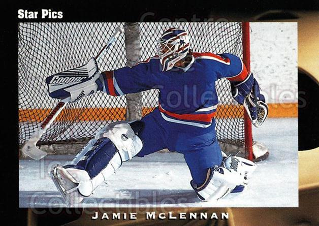 1991 Star Pics #32 Jamie McLennan<br/>11 In Stock - $1.00 each - <a href=https://centericecollectibles.foxycart.com/cart?name=1991%20Star%20Pics%20%2332%20Jamie%20McLennan...&quantity_max=11&price=$1.00&code=16061 class=foxycart> Buy it now! </a>