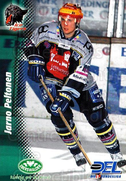 1999-00 German DEL #31 Jarno Peltonen<br/>8 In Stock - $2.00 each - <a href=https://centericecollectibles.foxycart.com/cart?name=1999-00%20German%20DEL%20%2331%20Jarno%20Peltonen...&quantity_max=8&price=$2.00&code=160624 class=foxycart> Buy it now! </a>