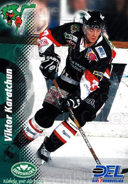 1999-00 German DEL #312 Viktor Karatchun<br/>12 In Stock - $2.00 each - <a href=https://centericecollectibles.foxycart.com/cart?name=1999-00%20German%20DEL%20%23312%20Viktor%20Karatchu...&price=$2.00&code=160627 class=foxycart> Buy it now! </a>