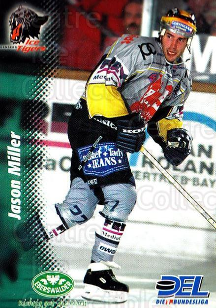 1999-00 German DEL #37 Jason Miller<br/>7 In Stock - $2.00 each - <a href=https://centericecollectibles.foxycart.com/cart?name=1999-00%20German%20DEL%20%2337%20Jason%20Miller...&price=$2.00&code=160679 class=foxycart> Buy it now! </a>