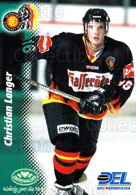 1999-00 German DEL #374 Christian Langer<br/>8 In Stock - $2.00 each - <a href=https://centericecollectibles.foxycart.com/cart?name=1999-00%20German%20DEL%20%23374%20Christian%20Lange...&quantity_max=8&price=$2.00&code=160684 class=foxycart> Buy it now! </a>