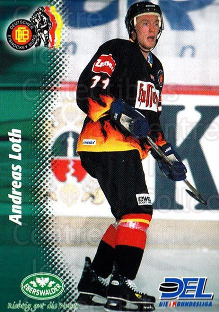 1999-00 German DEL #389 Andreas Loth<br/>9 In Stock - $2.00 each - <a href=https://centericecollectibles.foxycart.com/cart?name=1999-00%20German%20DEL%20%23389%20Andreas%20Loth...&quantity_max=9&price=$2.00&code=160699 class=foxycart> Buy it now! </a>