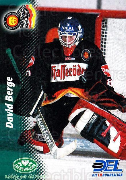 1999-00 German DEL #390 David Berge<br/>8 In Stock - $2.00 each - <a href=https://centericecollectibles.foxycart.com/cart?name=1999-00%20German%20DEL%20%23390%20David%20Berge...&quantity_max=8&price=$2.00&code=160701 class=foxycart> Buy it now! </a>