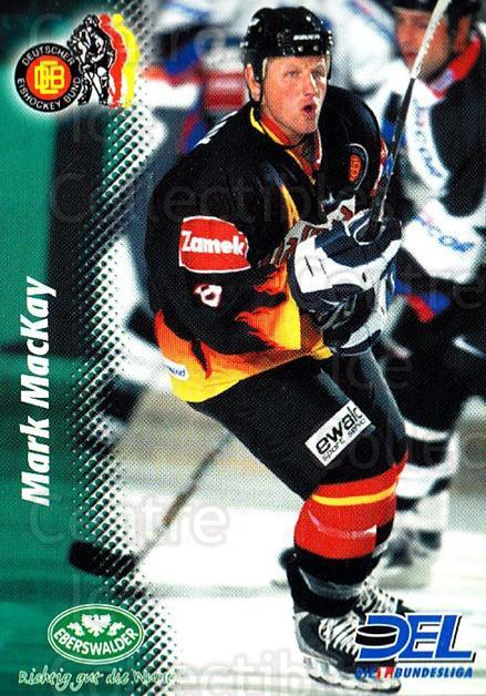 1999-00 German DEL #391 Mark MacKay<br/>9 In Stock - $2.00 each - <a href=https://centericecollectibles.foxycart.com/cart?name=1999-00%20German%20DEL%20%23391%20Mark%20MacKay...&quantity_max=9&price=$2.00&code=160702 class=foxycart> Buy it now! </a>