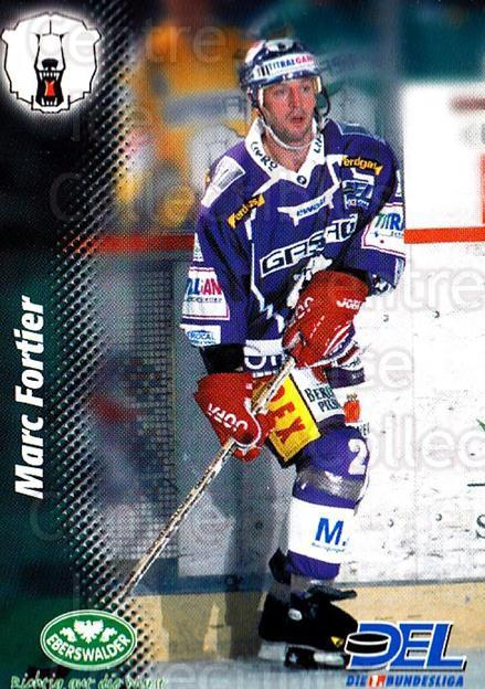 1999-00 German DEL #63 Marc Fortier<br/>9 In Stock - $2.00 each - <a href=https://centericecollectibles.foxycart.com/cart?name=1999-00%20German%20DEL%20%2363%20Marc%20Fortier...&quantity_max=9&price=$2.00&code=160768 class=foxycart> Buy it now! </a>