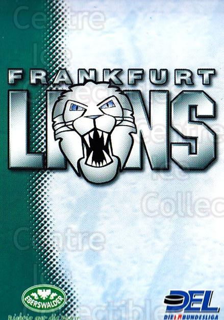 1999-00 German DEL #75 Frankfurt Lions, Checklist<br/>8 In Stock - $2.00 each - <a href=https://centericecollectibles.foxycart.com/cart?name=1999-00%20German%20DEL%20%2375%20Frankfurt%20Lions...&quantity_max=8&price=$2.00&code=160781 class=foxycart> Buy it now! </a>