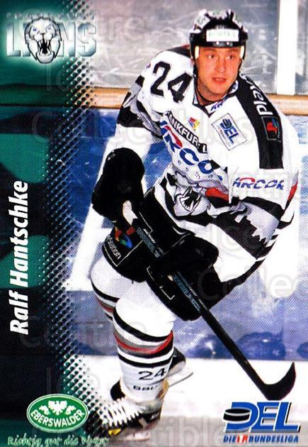 1999-00 German DEL #89 Ralf Hantschke<br/>8 In Stock - $2.00 each - <a href=https://centericecollectibles.foxycart.com/cart?name=1999-00%20German%20DEL%20%2389%20Ralf%20Hantschke...&quantity_max=8&price=$2.00&code=160794 class=foxycart> Buy it now! </a>