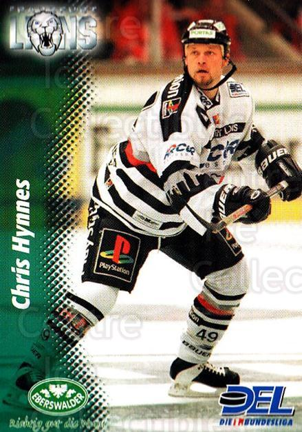 1999-00 German DEL #93 Chris Hynes<br/>11 In Stock - $2.00 each - <a href=https://centericecollectibles.foxycart.com/cart?name=1999-00%20German%20DEL%20%2393%20Chris%20Hynes...&quantity_max=11&price=$2.00&code=160799 class=foxycart> Buy it now! </a>