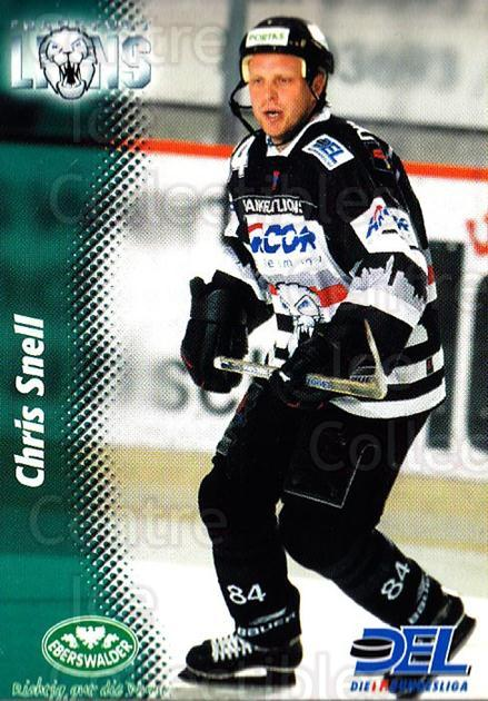 1999-00 German DEL #97 Chris Snell<br/>6 In Stock - $2.00 each - <a href=https://centericecollectibles.foxycart.com/cart?name=1999-00%20German%20DEL%20%2397%20Chris%20Snell...&quantity_max=6&price=$2.00&code=160803 class=foxycart> Buy it now! </a>